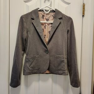 Soft grey knit blazer